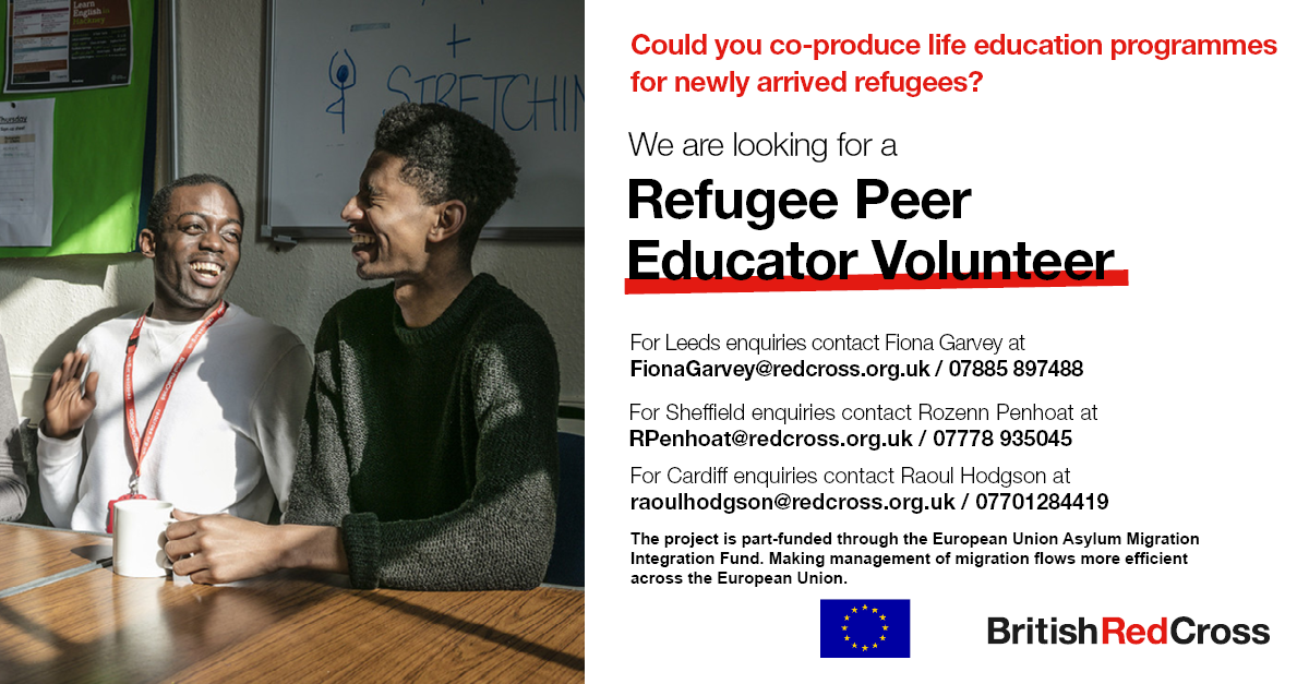 Refugee Peer Educator Volunteer Opportunity (British Red Cross)